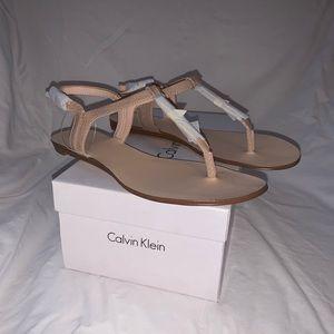 Calvin Klein pale blush sandals - never worn!
